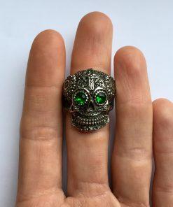 Doodshoofd ring bovenaanzicht