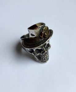 Hoedje skull ring