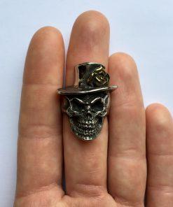 Hoedje skull ring bovenaanzicht