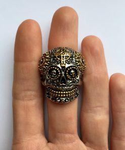 Skull ring kopen bovenaanzicht